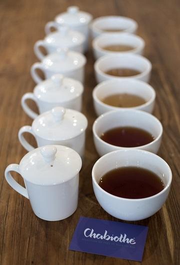 différentes couleurs de thés